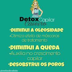Detox capilar, desobstrui os poros e diminui a oleosidsde