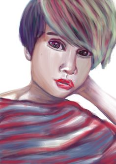 Still practice my painting skills. Drawing you :O  #Painting #Art #Portrait #Shorthair #Girl