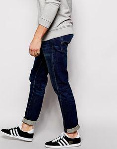 Image 4 ofLevis Vintage 1966 501 Slim Fit Jeans Customised Ground Floor