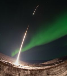 On March 3, 2014, a NASA-funded sounding rocket launched straight into an aurora over Venetie, Alaska.