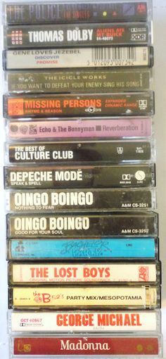 Perfect 80s party cassette tapes - totally awesome collection!
