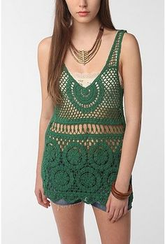 I like this, but would layer it over top of something a BIT more substantial than a bra...