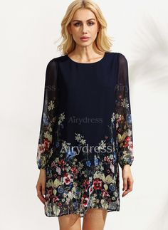 Dress - $20.59 - Polyester Solid Long Sleeve Above Knee Casual Dresses (1955130266)