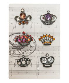 Take a look at this Sparkle Crown Magnets - Set of Six by A Stylish Home: Accents & Décor on #zulily today!