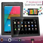 """New 7"""" Quad Core Android 4.4 Kids Tablet PC 8GB Dual Camera WIFI Bluetooth Gift"""
