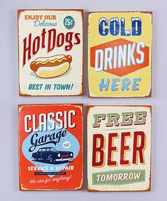 Beer & Hot Dog Wall Art Set by  #zulily #zulilyfinds