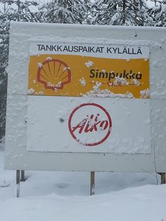 A gas-station and a liqour store, the only things you need on theh road in finland