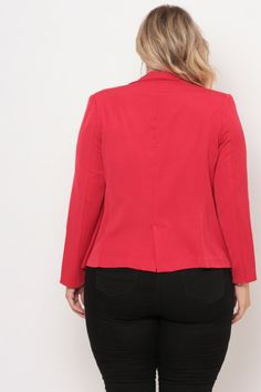 Plus Size Working Girl Blazer - Red Classy Girl, Plus Size Women, Latest Trends, Curvy, Blazer, Clothes For Women, My Style, Red, Jackets