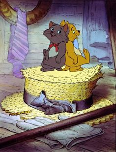 "Berlioz and Toulouse - Disney's ""The Aristocats"" (1970)"