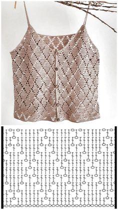 Shawl Crochet, T-shirt Au Crochet, Pull Crochet, Mode Crochet, Crochet Shirt, Crochet Woman, Easy Crochet, Crochet Stitches Patterns, Knitting Patterns
