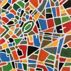 Tutto il mondo è paese - Milano - colle siliconiche su tela  80 x 80 - 2008