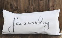 We Are Family 12 x 24 Lumbar Pillow Cover by ParrisChicBoutique, $25.00