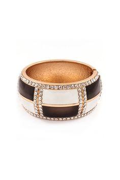 Addison Bracelet in Ivory on Cocoa