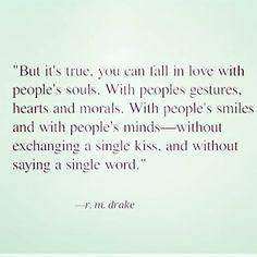 Loving the essence of a person; the most beautiful way to love