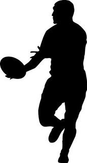 Rugby Wall Decal Sticker 9 - Decal Stickers and Mural for Kids Boys Girls Room and Bedroom. Sport Wall Art for Home Decor and Decoration Ð Rugby Football Silhouette Mural