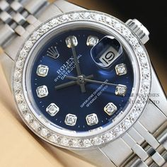 Cool LADIES ROLEX BLUE DIAMOND DIAL DATEJUST OYSTER PERPETUAL 18K WHITE GOLD/SS WATCH Check more at https://24myshop.ml/product/ladies-rolex-blue-diamond-dial-datejust-oyster-perpetual-18k-white-goldss-watch/