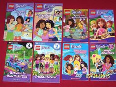 Lego Friends~8 Girl's Books Ages 6-10 Chapter Books~Readers~Comics~DK Scholastic