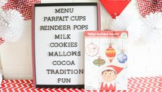elf on the shelf northpole breakfast party ideas