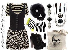 Crafty Lady Abby - FASHION: Stripes and Skulls
