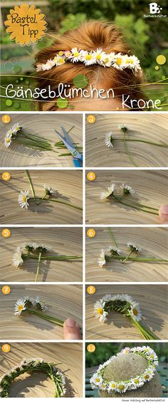 Easy tutorial for a Cute Daisy Crown! … Easy tutorial for a Cute Daisy Crown! // Einfache Gänseblümchen Krone selber machen More The post Easy tutorial for a Cute Daisy Crown! … appeared first on Woman Casual - DIY and crafts Daisy Crown, Diy Flower Crown, Diy Flowers, Flower Crown Tutorial, Flower Crowns, Fake Flowers, Cute Crafts, Crafts To Do, Crafts For Kids