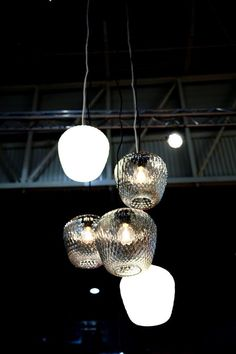 Blown by Samuel Wilkinson in a lighting constellation that truly gets the complexity of the lamp shown #MO13 #Blown #andtradition