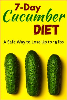 Cucumbers have an essential role in any healthy diet plan. Besides, cucumbers high nutritional qualities, they're also excellent for making you feel full. Cucumber is a vegetable and therefore is rich in dietary fibers. Eating cucumbers (cucumber diet) on Easy Diet Plan, Healthy Diet Plans, Healthy Tips, Simple Diet, Healthy Treats, Healthy Women, Healthy Eating, Healthy Diet Recipes, Healthy Food