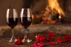 A Romantic Valentine's Dinner for Two: Artichoke Walnut Pesto Crostini, Seitan Piccata, Choco Raspberry Dream Cake. White Wine, Red Wine, Valentines Day Trivia, Wine Cellar Racks, Fish And Chicken, Romantic Surprise, Course Meal, Dinner For Two, Nice Dinner