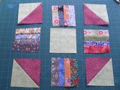 Scrap quilt block layout