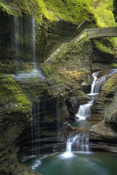 Watkins Glen fall in New York state, USA