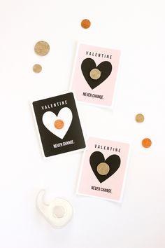 Printable Coin Valentine from Delia Creates