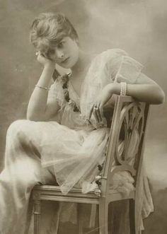 French actress and courtesan Jacqueline Forzane. A style icon of the years immediately prior to the Great War, Cecil Beaton described her as 'an incandescent blonde' who exuded the 'rarefied aura of Parma violets'.