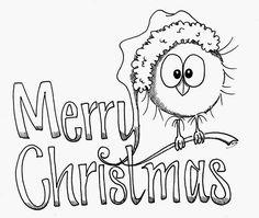 Wintervogel 2/9, Bird, Sampler, Weihnacht, Kajsansscrapblog: .:Freebee digi christmas stamps 2014:.