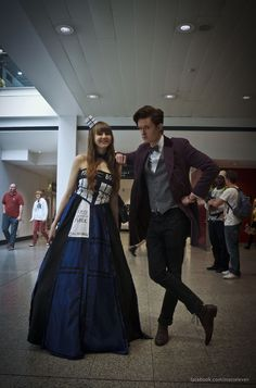 TARDIS and eleventh doctor cosplay