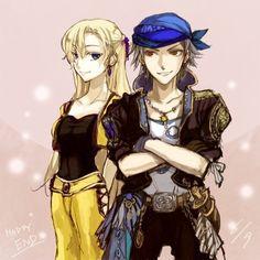 Final Fantasy Three: Locke Cole & Celes Chere. | Final Fantasy Art ...