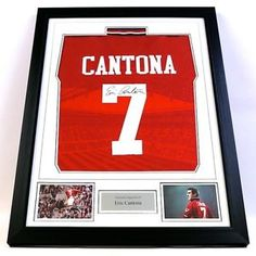 Framed Manchester United Shirt – Signed by Eric Cantona. . http://www.champions-league.today/framed-manchester-united-shirt-signed-by-eric-cantona/.  #Eric Cantona