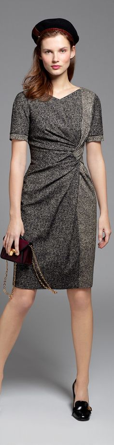 Paule Ka 2015/16 gray dress. Fall autumn women fashion outfit clothing stylish apparel @roressclothes closet ideas