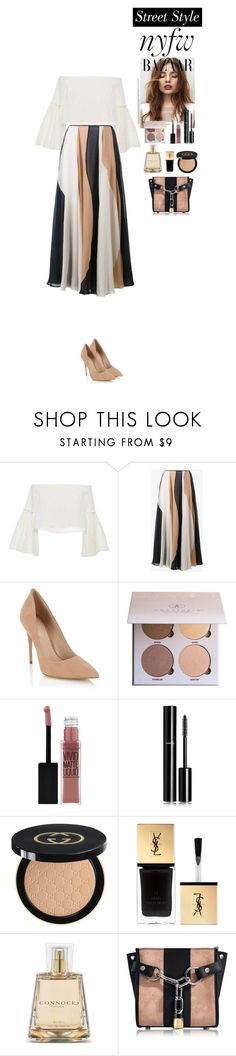 """""""NYFW Street Style: Day One"""" by eliza-redkina ❤ liked on Polyvore featuring Rosetta Getty, Roksanda, Lipsy, Anastasia Beverly Hills, Maybelline, Chanel, Gucci, Yves Saint Laurent, Connock London and Alexander Wang"""