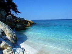 Pictures of Greece | Beaches of Thassos, Tassos, Greece, Marble Beach . Thassos is in North Greece below Kavala.