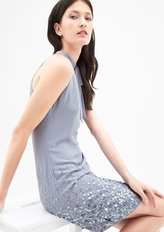 Schulterfreies Kleid mit Pailletten kaufen | s.Oliver Shop