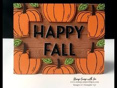 Halloween Cards, Halloween Themes, Winter Cards, Autumn Cards, Waterfall Cards, Pumpkin Cards, Fun Fold Cards, Thanksgiving Cards, Floating Frame