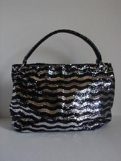 Ultra Sequins Bag (Black/White)