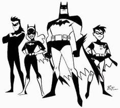 Batman, Batgirl, Nightwing & Robin by Bruce Timm