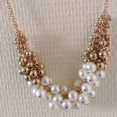 Collier Gold Pearl via Necklace's Store. Click on the image to see more!