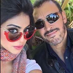 القيصر تصور معه الفنانة البحرينية شيلا سبت