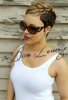 Coupe courte pour femme : The Diva Lounge Hair Salon Montgomery AL Larnetta Moncrief Stylist/ Owner Pixie Styles, Short Styles, Curly Hair Styles, Natural Hair Styles, Cute Hairstyles For Short Hair, Black Girls Hairstyles, Thin Hairstyles, Spring Hairstyles, Short Haircuts Black Hair