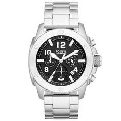 [FALIDOMOB]Relógio Masculino Cronógrafo Fossil Pulseira De Aço Caixa De 4,8 Cm - R$373,52