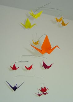 Warm Side of theRainbow - Small Hanging Origami Mobiles -