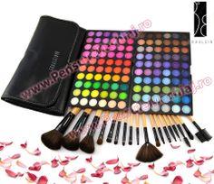 Trusa Farduri 120 culori Fraulein38 Lilly & Rose + 18 pensule machiaj Neutral, Eyeshadow, Bags, Fashion, Handbags, Moda, Eye Shadow, Fashion Styles, Eye Shadows