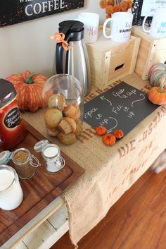 Thanksgiving Coffee Station