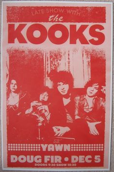 the kooks music gig posters | Music Posters - Posters Rock/Pop Gig G-P - Kooks THE KOOKS 2011 Gig ...